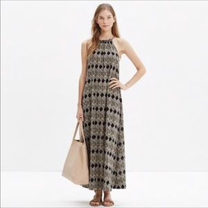 Madewell Aruba Woodcut Diamond Cover-Up Maxi Dress
